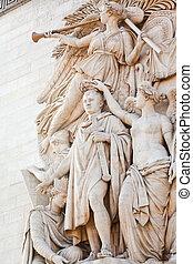 sculpture decoration of triumphal arch in Paris