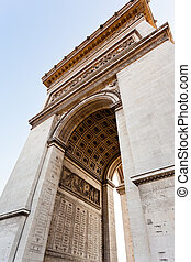 inner arches of Triumphal Arch in Paris