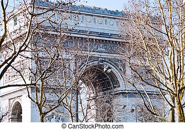 view of Triumphal Arch in Paris