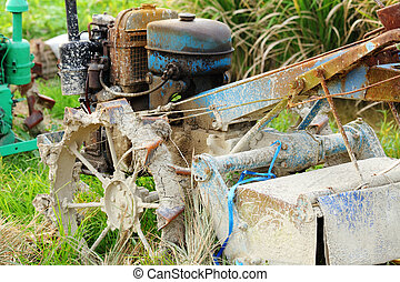 old abandoned tractor
