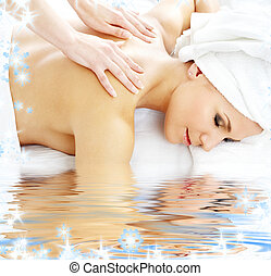 professional massage - picture of lovely lady relaxing in...