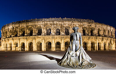 Arena of Nimes - The Arena of Nimes is a Roman amphitheatre...