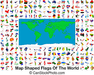 Map Shaped Flags Of The World - All of the worlds flags in...