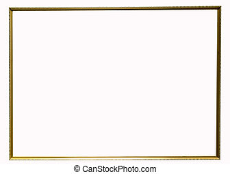 Classic gold frame isolated