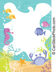 Sea Creature Fun Border - Colourful fun childrens border...