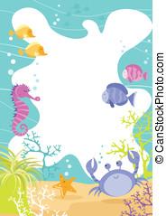 Sea Creature Fun Border - Colourful fun children's border...