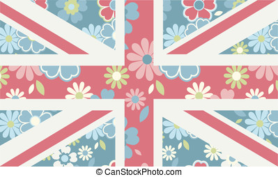Floral Union Jack - A feminine version of the union jack...