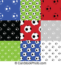 Football seamless patterns - Seamless football /soccer...