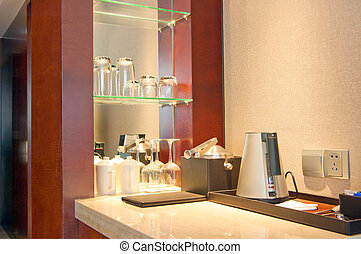 Ice bucket and electric kettle(Hotel Rooms)
