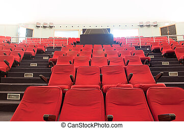 movie theater seats?rows and rows of neat?