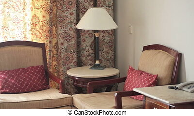lamp shade and chairs