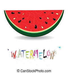 Watermelon fresh slices background Red sweet juice pattern...