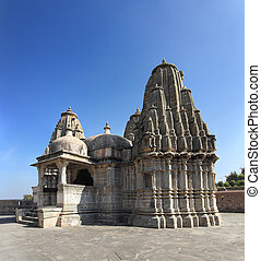 hinduism temple in kumbhalgarh fort - rajasthan india