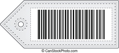 Price Tag With Bar Code Isolated On White