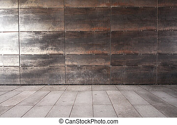 Wall and sidewalk - Simple wall and sidewalk background
