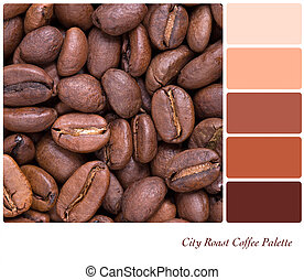 City Roast Coffee Palette - City Roast coffee bean colour...