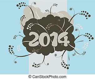 Happy New Year card - 2014 - Happy New Year card in urban...