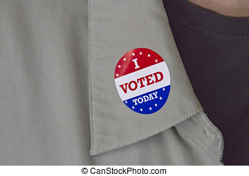 I Voted Today Lapel Sticker - A colorful, patriotic lapel...
