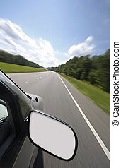Blank rear view mirror - Vehicle with blank rear view mirror...