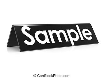 Sample in black - Rendered artwork with white background