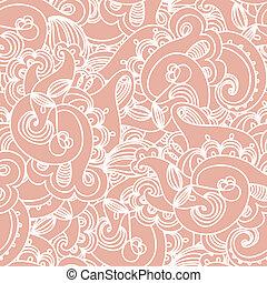 Seamless elegant paisley lace pattern