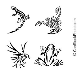 Tribal Animal Set Collection
