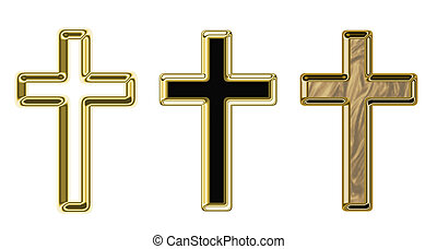 Crosses, illustration on a religious theme