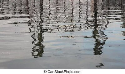 Water Reflection of Steel Bridge - Water Reflection of...
