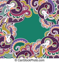 Colorful paisley frame