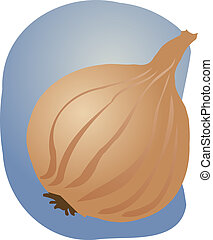 Onion illustration - Sketch of an onion. Hand-drawn lineart...