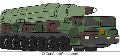 Missile Truck vector