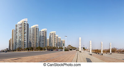 Urban Landscape - Urban landscape, with tall buildings and...