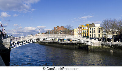 Hapenny Bridge in Dublin Ireland