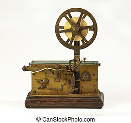 Old telegraph on white background