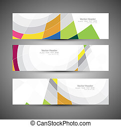 Abstract colorful header mosaic wave vector design...