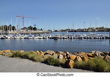 Port of Lorient in France - Port of Lorient, commune in the...