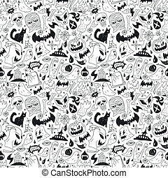 monsters - seamless pattern