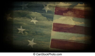 American flag abstract background - Vintage american flag...