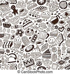sweets - seamless vector pattern - sweets - seamless...