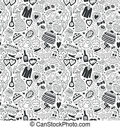 wedding - seamless pattern - wedding - seamless background...