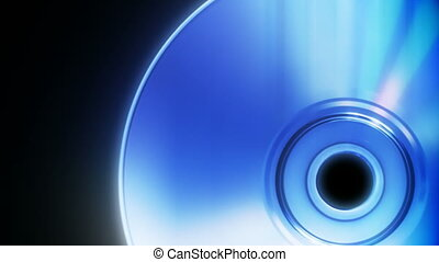 Compact disc on a black background close up seamless loop