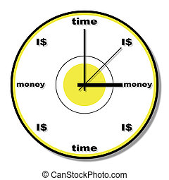 time is money clock theme
