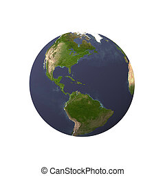 earth with black background