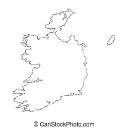 eire - map of eire