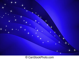 Abstract curve texture with blue background