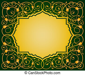 Islamic floral art border - Islamic floral art vector...