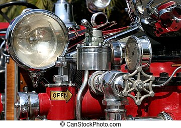 Old Fire Truck - Close up of an old fire truck.