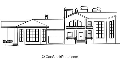 Scetch of a house