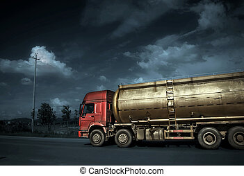 Tanker on the road, very good material.