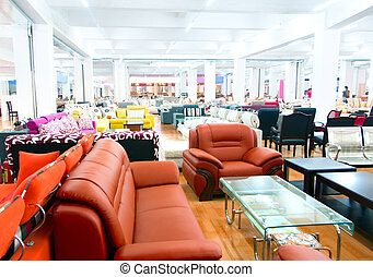 Sofa store - A furniture store, there are sofas, beds,...